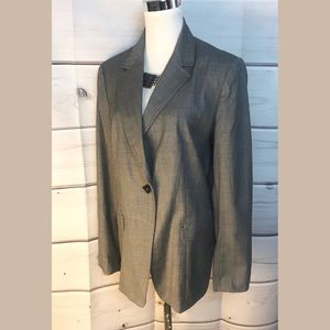 Jackets & Blazers - Elie tahari one Button will blazer gray size 10